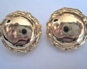 Trifari Gold Tone Clip Earrings