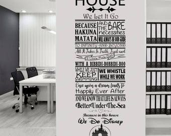 In this house rules Disney quotes SVG file, PNG file,  cutting machine file. Cricut