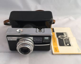 Kodak Instamatic 500, Vintage Camera, Film Camera, 126 film Cartridge,  German Camera, 1960's Camera, Collectable Camera
