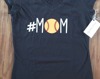 Sports mom comfy tee shirt soccer baseball football hockey dance golf gymnastics womens mama custom trendy mommy soft custom personalize