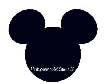 Mickey Mouse Embroidery Design All Formats Fits 4x4 hoops