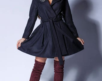 Wool Coat ,Winter Coat ,women coat,long Coat ,Winter Coat Woman ,Wool Jacket , princess dress coat, Coat, Winter Coat, Belted coat,