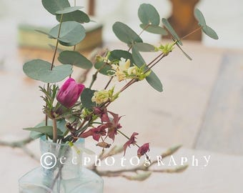 Styled stock photo, flowers.