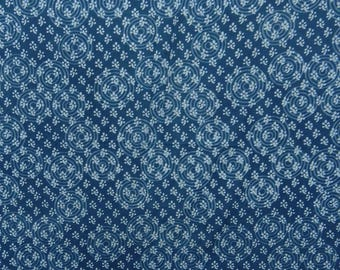 "Apparel Fabric Material, CIrcle Print, Blue Fabric, Dressmaking Material Cotton Fabric, 47"" Inch Indian Fabric By The Yard ZBC8248A"