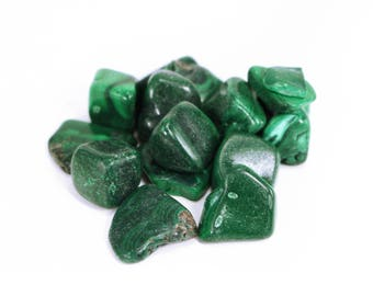 One Malachite Tumbled