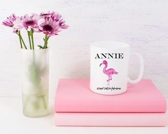Funny Coffee Mugs | Custom Name Flamingo Mug | Stand Tall Be Fabulous | Inspirational Mug | Funny Gifts | Gifts for Her | Gifts for Him
