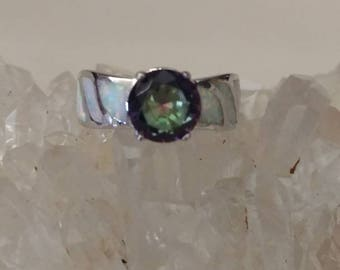 Opal and Mystic Topaz Party Ring, Size 6