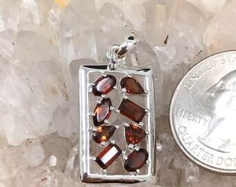Petite Garnet Pendant Necklace