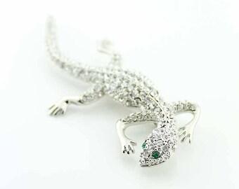 Lizard Jewelry Component, Lizard Brooch, Lizard Broach, Reptile, Chameleon, DIY Craft Supply Project Embellishment