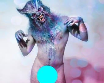 Werewolf - limited edition signed metallic digital print