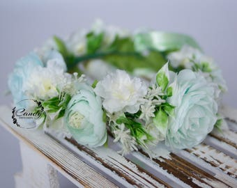 Flower crown, wreath, headband, photo prop bride wedding flowers wedding hair bride hair pink, white purple flowers