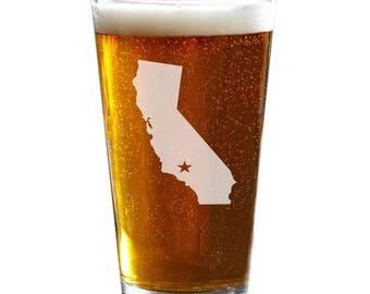 State Pint Glass, Personalized Beer Glass, Custom Pint Glass, Husband Gift, Boyfriend Gift