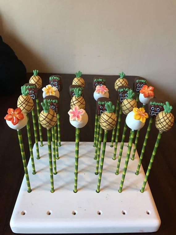 Tropical Tiki Hawaiian Moana Themed Cake Pops