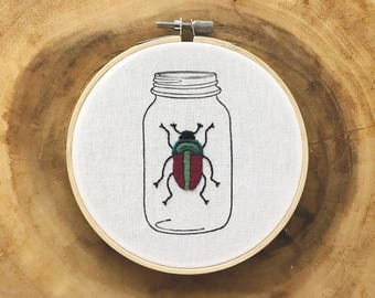 Beetle in Jar - Jewel Tones
