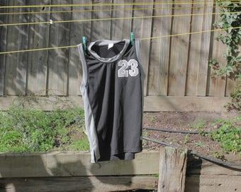 MJ #23 plain black basketball singlet
