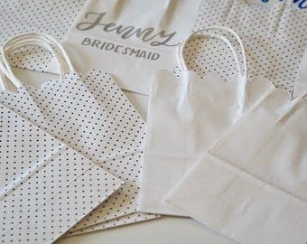 Party bags | handlettered gift bags |