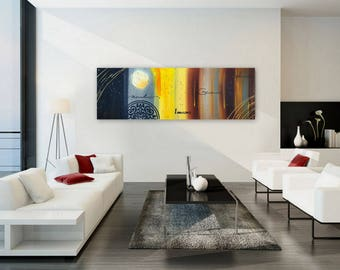 120 x 40 contemporary painting large abstract painting