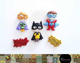 Superhero Fridge Magnet Set