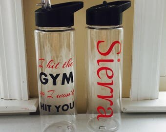 Personalized Water Bottles, Workout Water Bottles, Personalized Gifts, BPA FREE, Workout Equipment, Cute Water Bottles, Gym Water Bottles