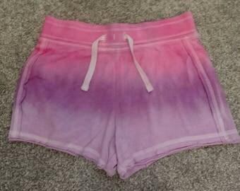 Ombre tie dye shorts