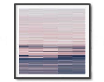Printable Art, pink and navy blue Print, Scandinavian Art, Geometric Print, Pattern Print, Modern Art, lines Print, Print Avenue, glitch