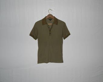 VINTAGE 90's Paul Smith London Made in Japan Polo Shirt Olive Green