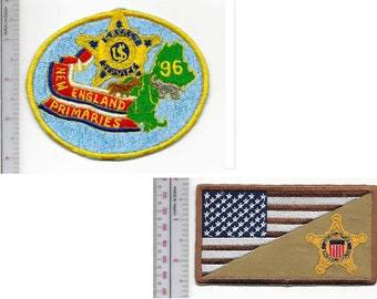 Secret Service New England Presidential Primaries 1996 and Afghanistan USSS Patch