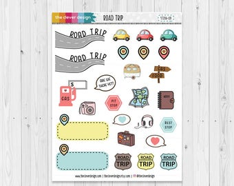 Road Trip Planner Stickers | 17209-09
