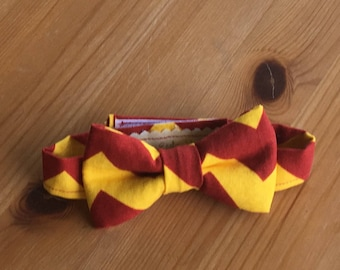 "Red and Yellow ""Harry Potter"" Inspired Bow Tie (Infants, Toddlers, Boys, Photo Prop, Special Occasion)"