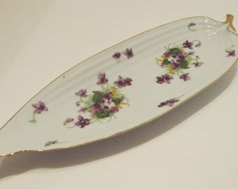 NORCREST Sweet Violet Relish Dish