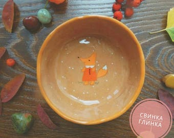 "Ceramic bowl ""Little Fox"""