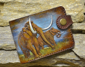 Wallet mammoth, genuine leather