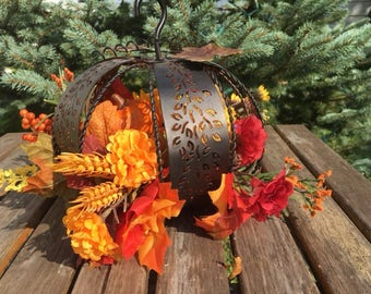 fall centerpiece / pumpkin centerpiece /autumn decor
