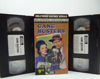 Gang Busters VHS Tape