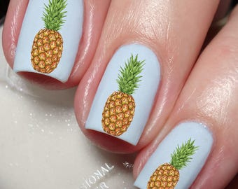 Pineapple nail decal etsy pineapple grape fruit nail art water transfer decal sticker tattoo 117 prinsesfo Image collections