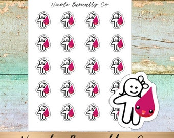 Cutie Pies- Period Tracker Planner Stickers