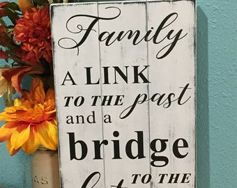Family quote wood sign • Customized with favorite saying • Personalized wooden plaque • Shabby Chic decor • Fixer upper • Pallet Style Sign