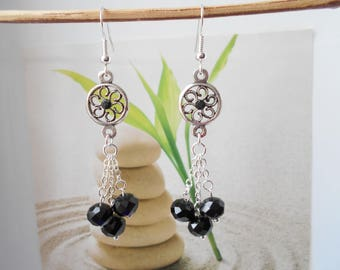 Earrings flower connector beads