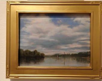 Alabama River landscape painting by Sandra Hicks Larson