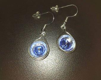 Sterling Disc Earrings