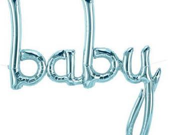 Script Baby Balloon // Rose Gold Baby Balloon // Blue Baby Balloon // Rose Gold Script Baby Balloon // Blue Script Baby Balloon