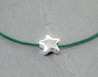 1x star bead 925 Sterling 8,8mm. #4565