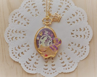 Alice Themed Cheshire Cat Necklace