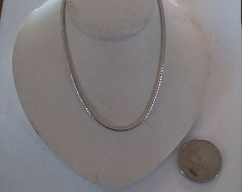 Vintage Sterling Silver 24 Inch Snake Chain