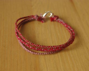 Bracelet thin braids cotton ethnic style