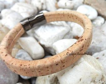 Cork Bracelet H, Unisex Portuguese Cork Bracelet, Unisex Portuguese Cork Bracelet, Kork Armband, Vegan Bracelet