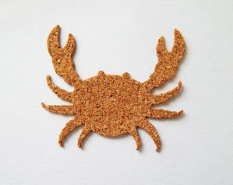 Pattern cut crab Cork - 4.6 cm