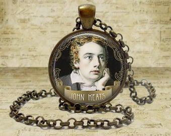 John Keats Necklace John Keats Photo Jewelry Keychain Literary Gift Poetry Gift for Book Lover Reader Poetry Necklace Poet Jewelry