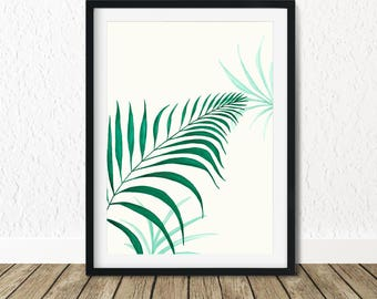 Leaves Poster Print, Tropical Wall Poster, Palm Tree Leaves, Tropical Foliage, Tropical Leaves, Tropical Wall Art, Leaves Wall Art