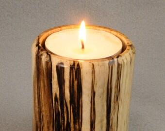 Spalted Wood Tea Light Holder